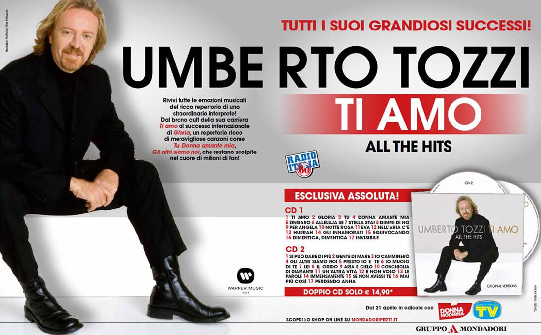 UMBERTO TOZZI - TI AMO ALL THE HITS
